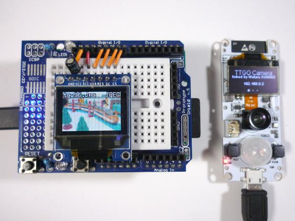 IoT Express × TTGO Camera 玄関カメラで0.8fpsパラパラ漫画表示