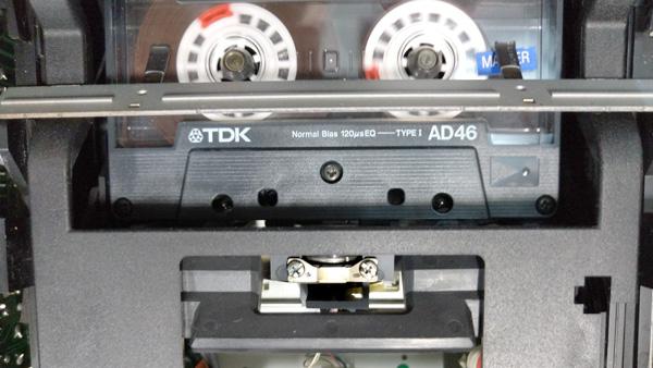 カセットテープ・レコーダのアジマス調整方法