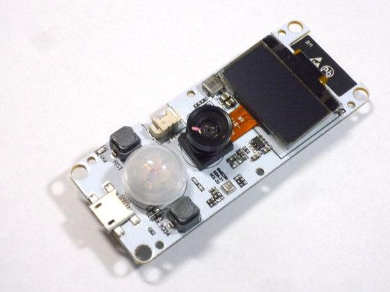 2000円のTTGO T-Camera:Wi-Fi+広角レンズ付カメラ+OLED+人感+温度+