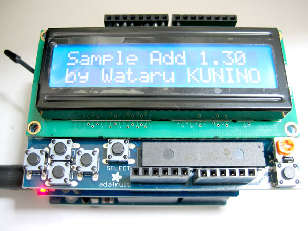 adafruit LCD Shield